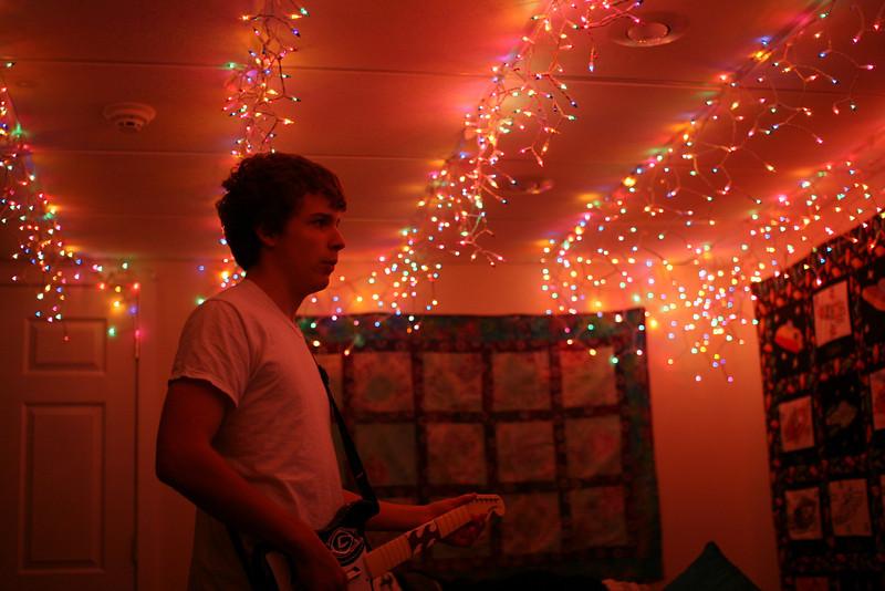 Rock Band in Chapman's basement