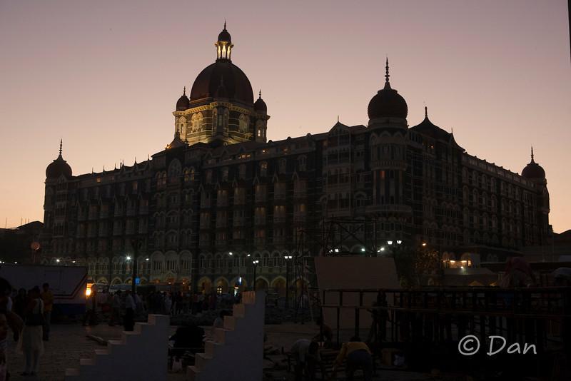 Taj Mahal Hotel in Mumbai - across the street from the Gateway of India