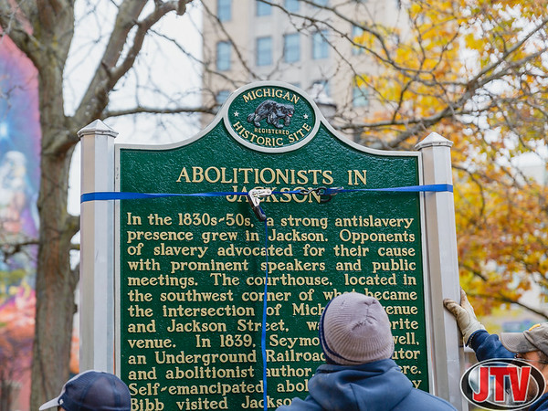 Abolitionists in Jackson Historic Monument Installation