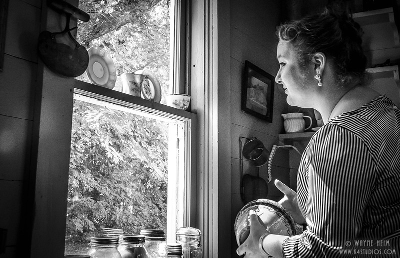 In the Kitchen   Black & White Photography by Wayne Heim