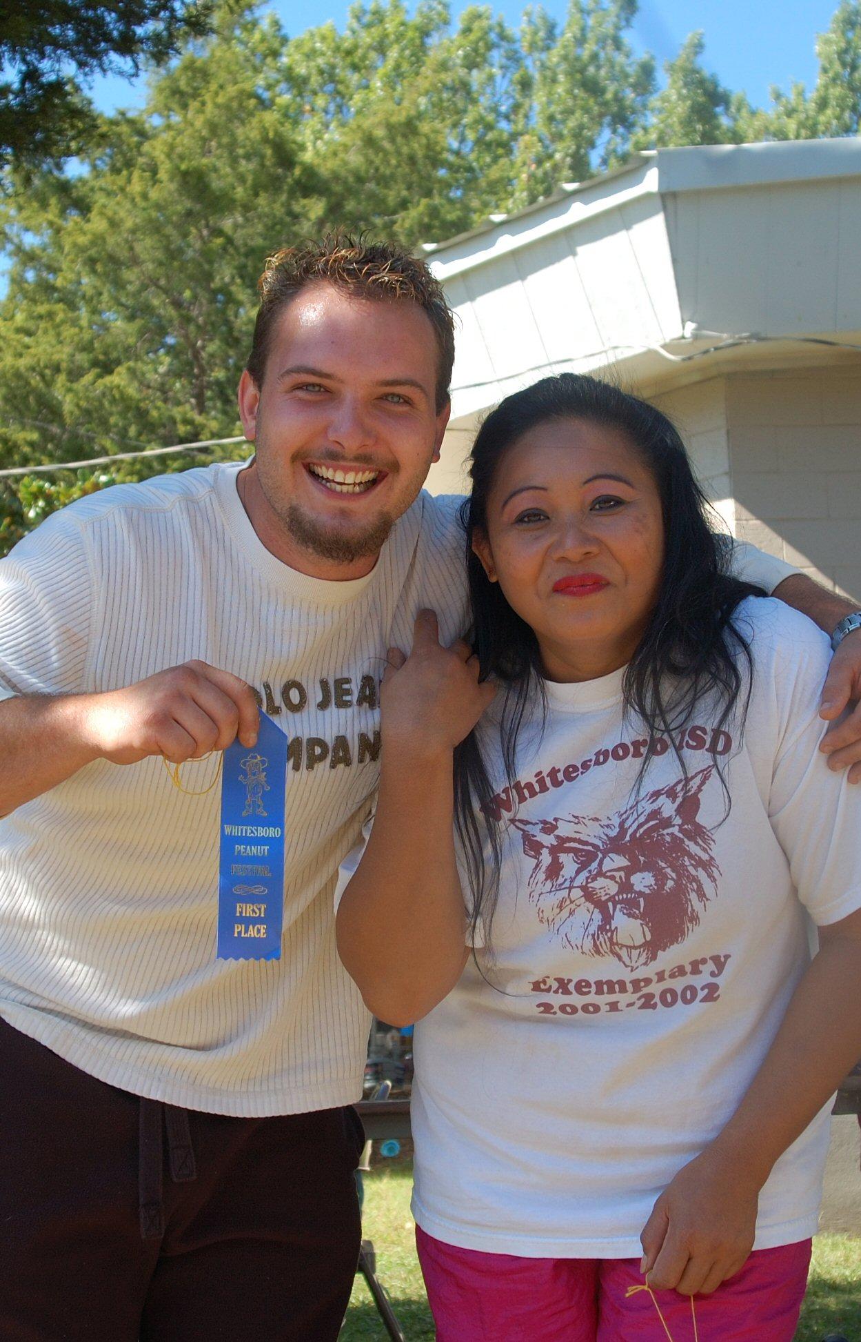 Goober spitting winners. Whitesboro Peanut Festival, 2009