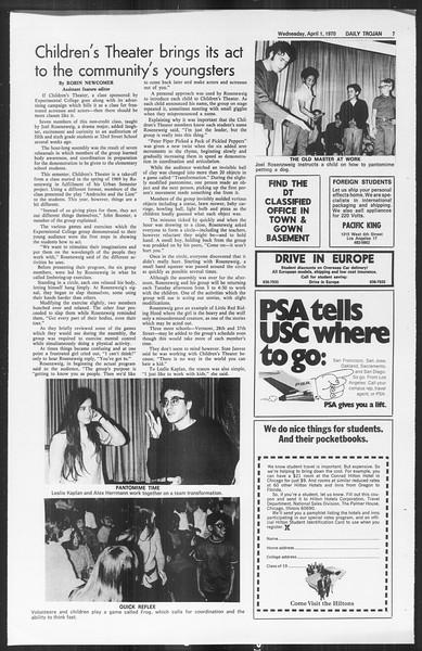 Daily Trojan, Vol. 61, No. 97, April 01, 1970