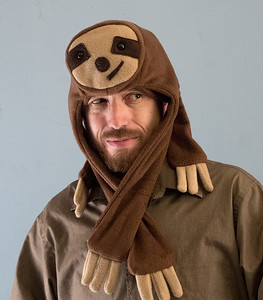 Critters: sloth, pug, panda, fox