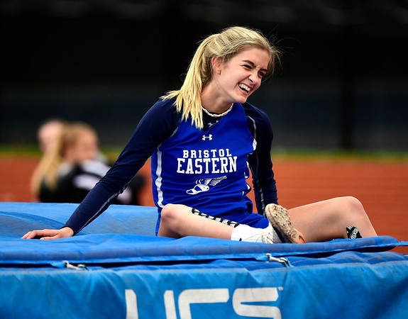 5/14/2019 Mike Orazzi | StaffBristol Eastern's Ryley Plourde during Tuesday's city track meet at Eastern.