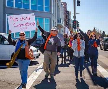 San Jose Demonstration against Trump's Emergency Declaration