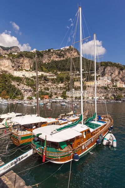 Docked in Harbor , Amalfi , Amalfi Coast