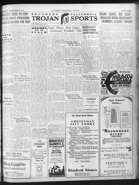Daily Trojan, Vol. 23, No. 47, November 18, 1931