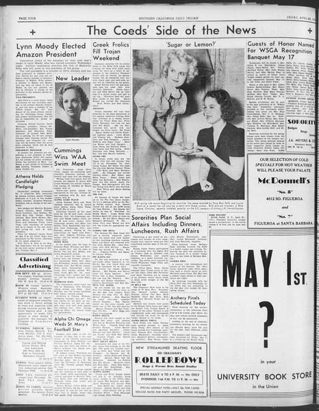 Daily Trojan, Vol. 30, No. 125, April 28, 1939