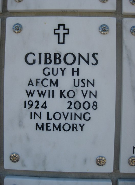 Guy Gibbons lived in Poway, California - Mom's 1st cousin, my 2nd cousins