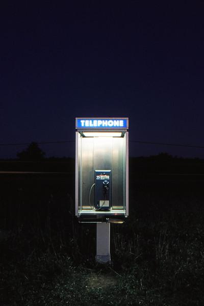 Telephone - Somewhere North of Barrie, Ontario, Canada - November 1986