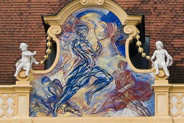 Art on Buildings in the Prelate's Courtyard, Melk Abbey