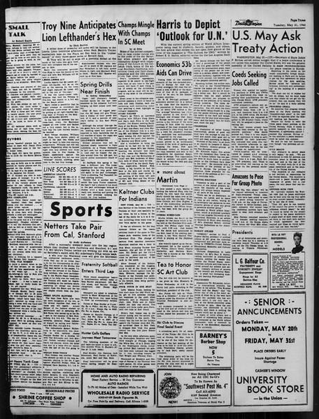 Daily Trojan, Vol. 37, No. 132, May 21, 1946