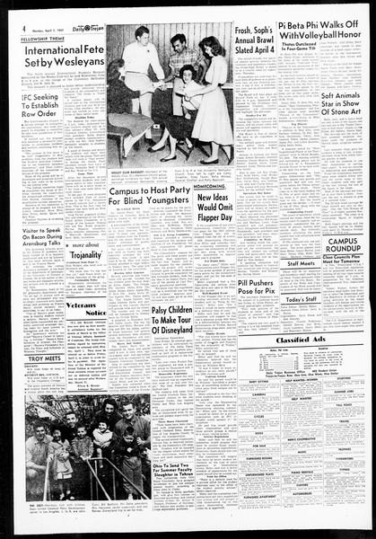 Daily Trojan, Vol. 48, No. 105, April 01, 1957