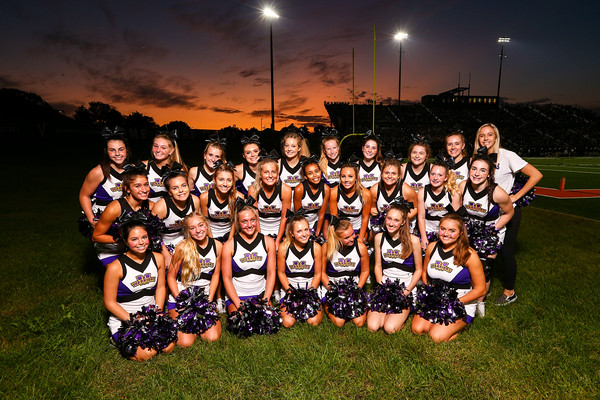 Waukee Varsity football cheerleaders 9/20/19 @ VHS