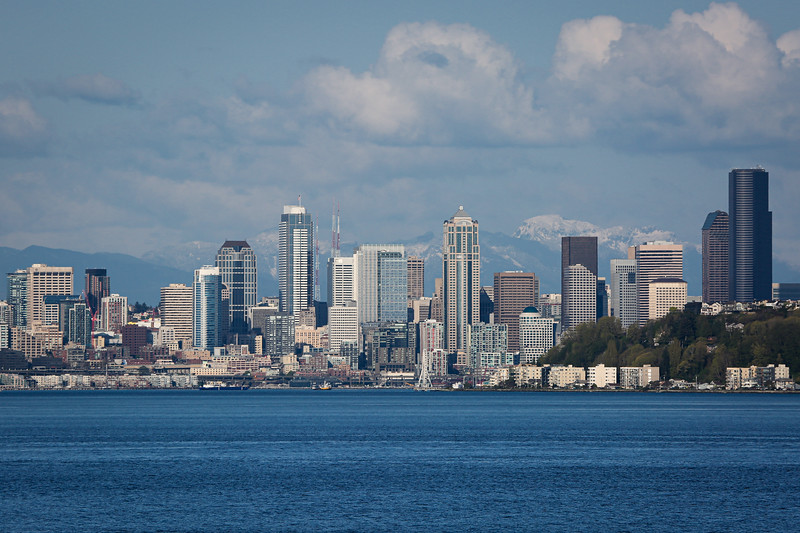 Seattle from the Bremerton Ferry