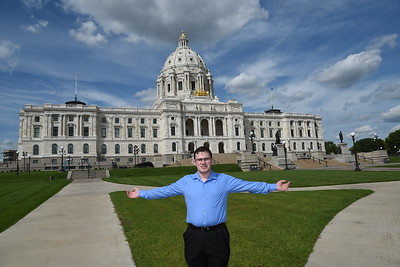 Max at the Minnesota State Capitol