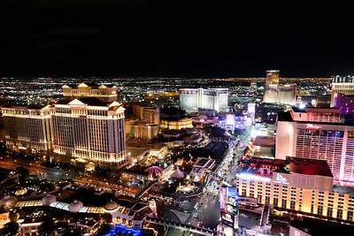 Las Vegas Strip, from the roof of the Paris Hotel