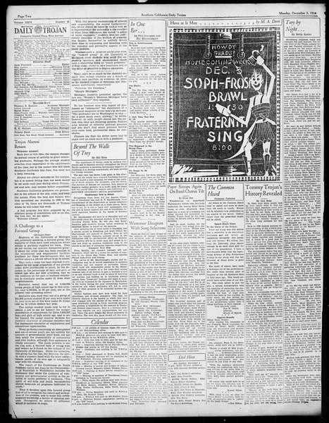 Daily Trojan, Vol. 26, No. 48, December 03, 1934