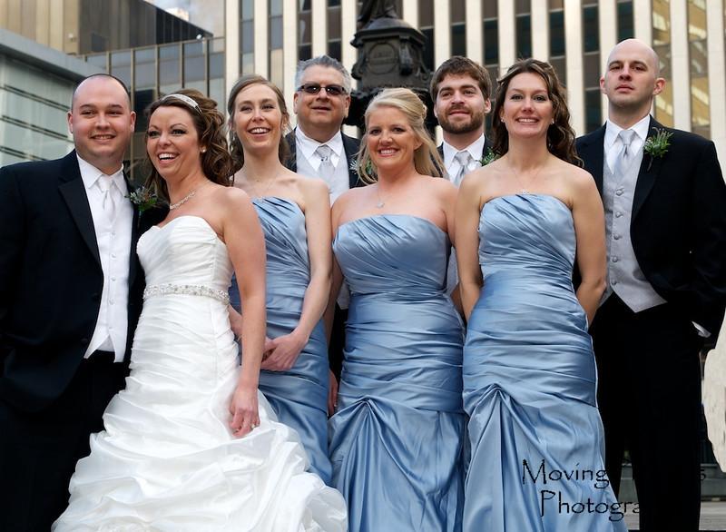 Erin & Evan Wedding - on Fountain Square