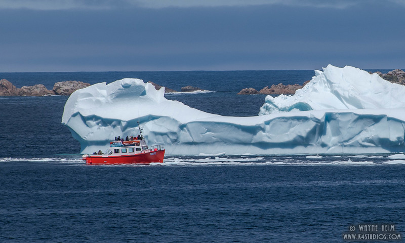 Passing Big Ice      Photography by Wayne Heim