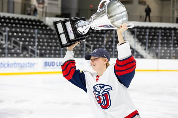 Women's Midwest College Hockey Championship: Liberty vs Minot State