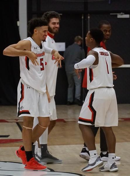 Gardner-Webb Men's Basketball took on Bob Jones University and won with a score of 105 to 37.