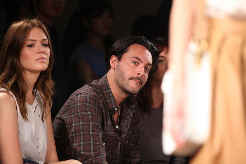 NEW YORK, NY - SEPTEMBER 07:  Actress / singer Mandy Moore (L) and actor Jack Huston attend Billy Reid's spring 2013 fashion show during Mercedes-Benz Fashion Week at Eyebeam on September 7, 2012 in New York City.  (Photo by Chelsea Lauren/Getty Images)