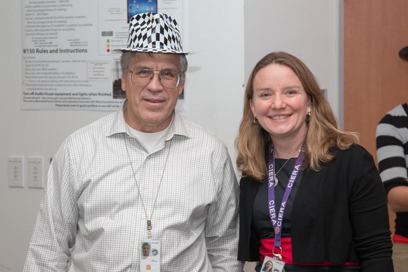 Tuck Stebbins (Chief of Gravitational Wave Astrophysics Laboratory) and Ann Hornschemeier (Program Chief Scientist for NASA's Physics of the Cosmos) -- LISA Pathfinder Launch Party & Seminar, Dec 4, 2015, NASA/GSFC.