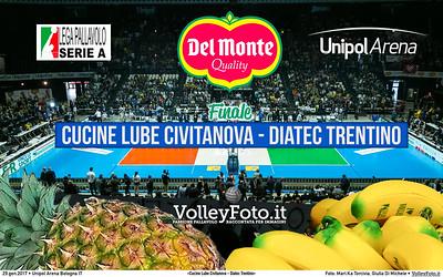 #Finale #DelMonteCoppa «Cucine Lube Civitanova - Diatec Trentino» #SuperLega