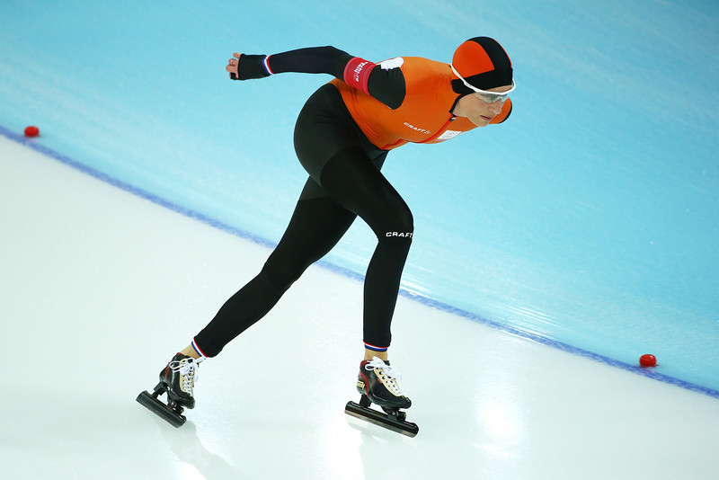 . Carien Kleibeuker of the Netherlands competes during the Women\'s 5000m Speed Skating event on day twelve of the Sochi 2014 Winter Olympics at Adler Arena Skating Center on February 19, 2014 in Sochi, Russia.  (Photo by Streeter Lecka/Getty Images)