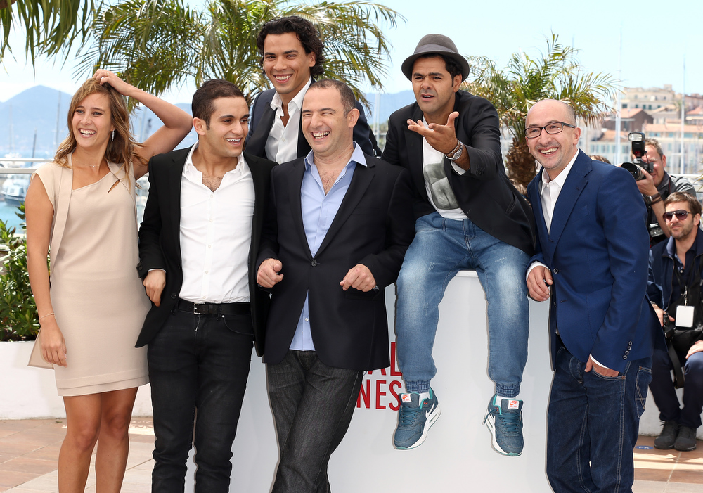 . Actors Julie De Bona,  Malik Bentalha, Tewfik Jallab, director Mohamed Hamidi and actors Jamel Debbouze and Fatsah Bouyahmed attend the \'Ne Quelque Part\' Photocall during The 66th Annual Cannes Film Festival at the Palais des Festivals on May 21, 2013 in Cannes, France.  (Photo by Andreas Rentz/Getty Images)
