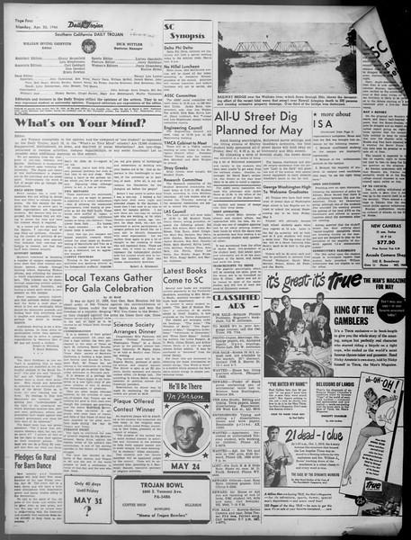 Daily Trojan, Vol. 37, No. 111, April 22, 1946