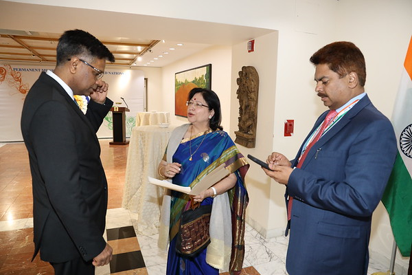 Reception in honour of Ms. Jagjit Pavadia India's candidate to the International Narcotics Control Board (INCB) for the term 2020-202504 April 2019