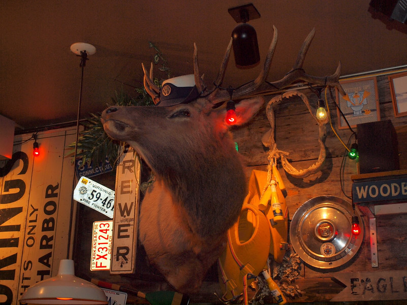 Inside Geddy's in Bar Harbor