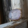 'INV My Letter' Pale Pink Glass Rebus Pendant, by Seal & Scribe 3