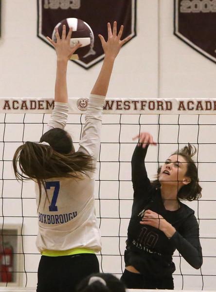 Westford v Acton-Boxboro volleyball 101118