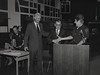Mayor Hudnut at IPD Quarterly Awards, September 15, 1983, Img. 10, with Joseph McAtee
