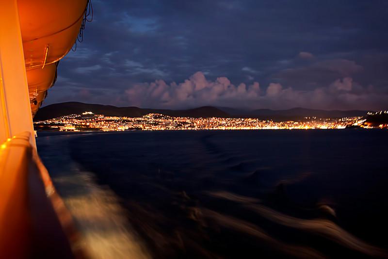 Leaving the port city of Kusadasi Turkey