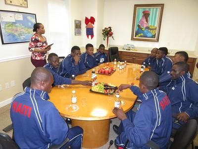 Haitian Para Olympic Soccer Team to Haitian Consulate