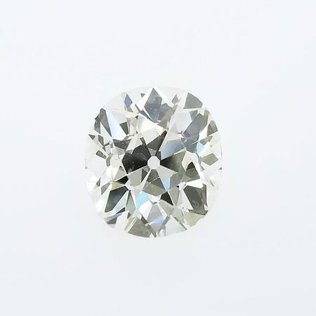 3.12ct Antique Cushion Cut Diamond - GIA L Faint Brown w/MBF, VS2