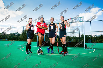 2017 Field Hockey Team and Captains