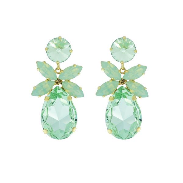 Daisy Earrings / Chrysolite + Chrysolite Opal