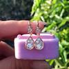 1.51ctw Diamond Mosaic OEC Dangle Earrings 8