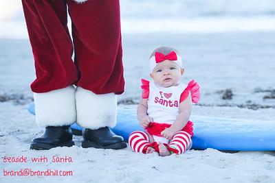 Baby Ava meets Santa