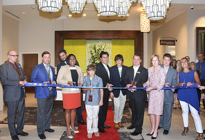 Mayor Warren helps welcome The Hilton Garden Inn to downtown Rochester. 6/24/2015