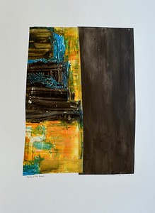 Before the Dawn-Mackey, 22x30 painting on paper (MM15-72)