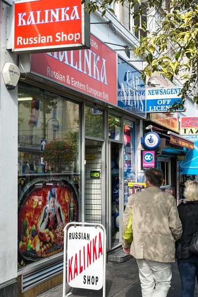 Russian delicatessen on Queensway, W2, London, United Kingdom