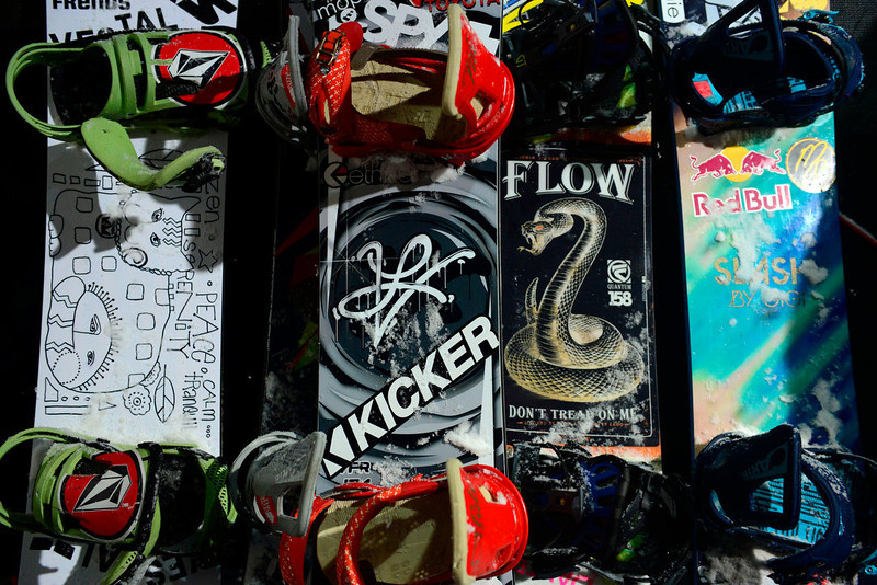 . ASPEN, CO. - JANUARY 24: Athlete\'s snowboards during the men\'s Snowboard Superpipe elimination. Men\'s Snowboard Slopestyle elimination X Games Aspen Buttermilk Mountain Aspen January 24, 2013 (Photo By AAron Ontiveroz / The Denver Post)