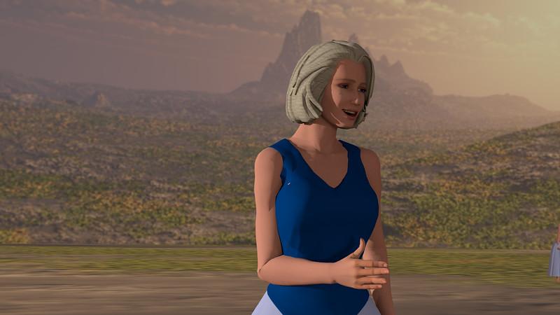 Low Polygon Woman