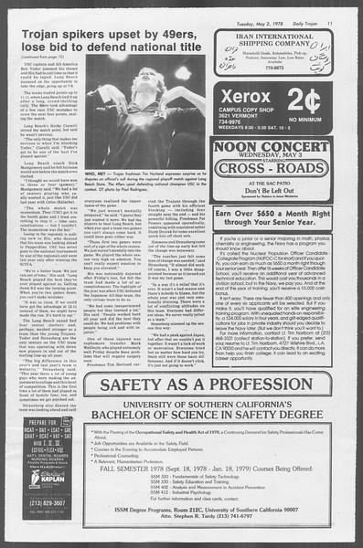 Daily Trojan, Vol. 73, No. 52, May 02, 1978